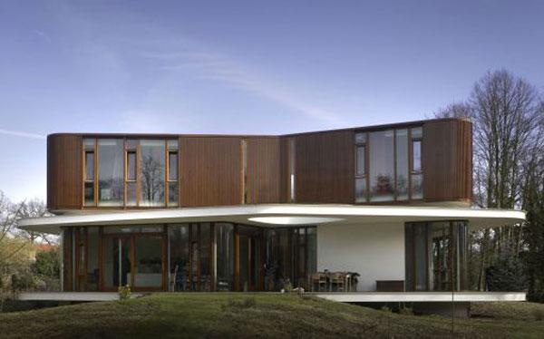 Pays bas la villa nefkens wageningen moderne house - Villa nefkens wageningen aux pays bas ...