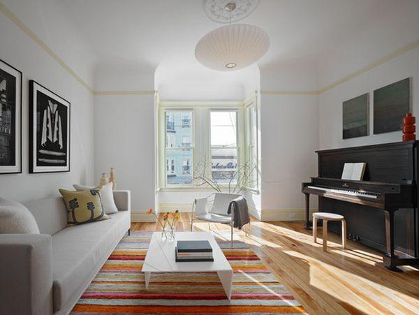 Le blanc la nouvelle couleur pour votre salon 8