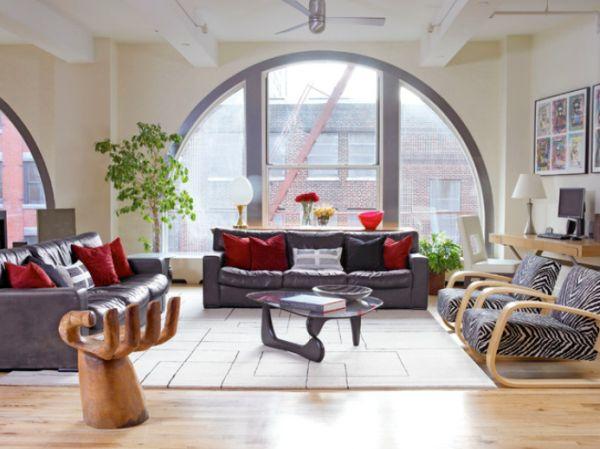 20 magnifiques salons modernes du style rustique au design moderne house 1001 photos - Salon style moderne ...
