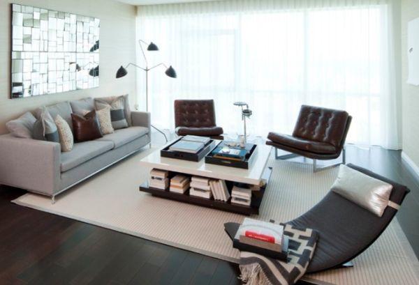 20 magnifiques salons modernes du style rustique au design