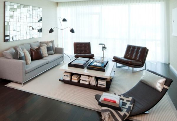 20 magnifiques salons modernes du style rustique au design moderne house 1001 photos. Black Bedroom Furniture Sets. Home Design Ideas