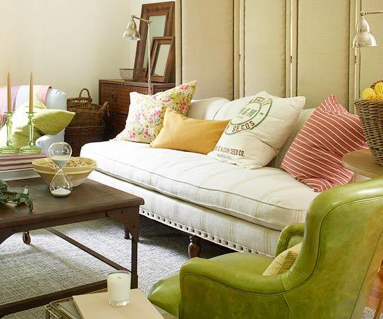 15 idées de salons verts 15