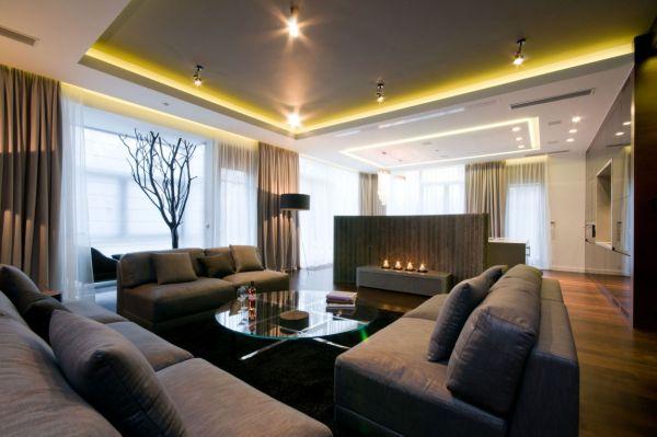 Grands salons 15 designs originaux et captivants moderne house 1001 photos inspirations for Photos salons luxueux