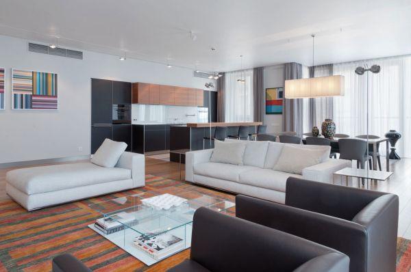 grands salons 15 designs originaux et captivants moderne house 1001 photos inspirations. Black Bedroom Furniture Sets. Home Design Ideas