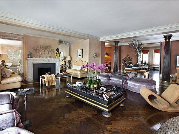45 id es de d coration de salon de l 39 art d co au moderne - Idee deco salon violet ...