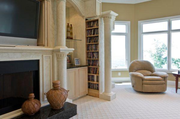 Des espaces de rangements astucieux pour un salon pragmatique - Espaces rangements astucieux salon ...