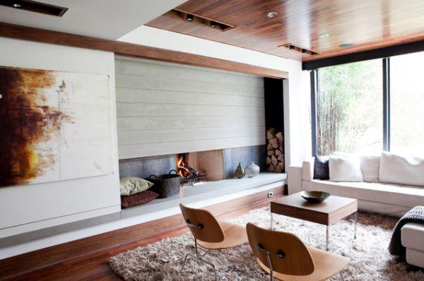 Des espaces de rangements astucieux pour un salon moderne house 1001 photos inspirations - Espaces rangements astucieux salon ...