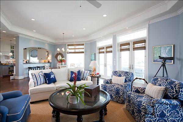 Salon blanc et bleu 3