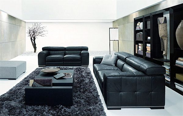 un salon blanc et noir 32 mani res intelligentes de l. Black Bedroom Furniture Sets. Home Design Ideas