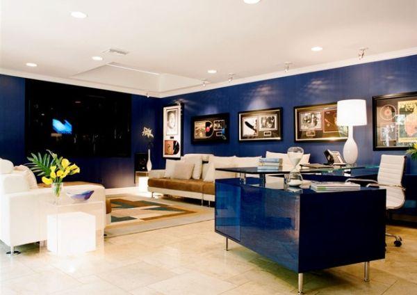 Idées de design de salons bleus 1