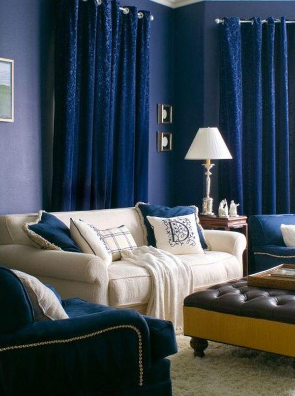 Idées de design de salons bleus 10