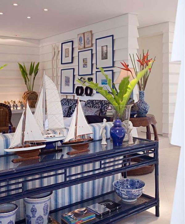 Idées de design de salons bleus 6