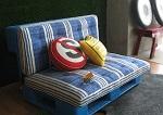 Canapé réalisé en bois de palette