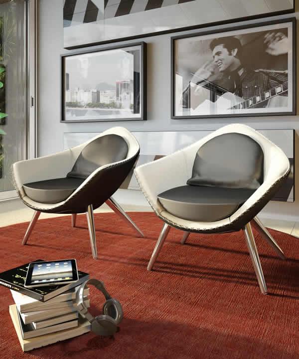 Chaise Iris de style rétro 1
