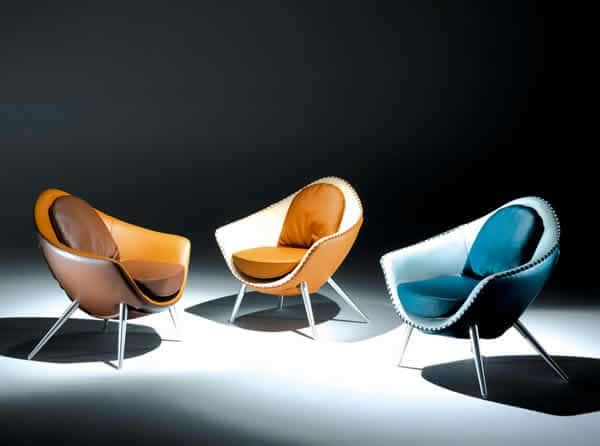 Chaise Iris de style rétro 2
