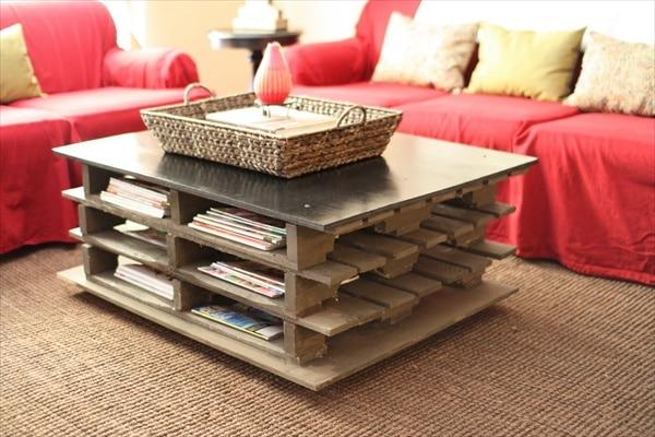 Table basse en palette 50 id es originales - Realiser une table basse en palette ...