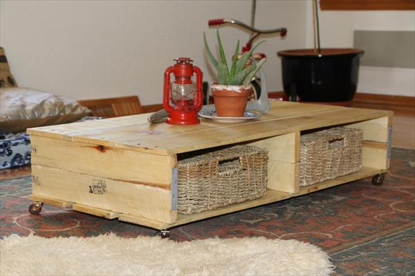 Table basse en palette 50 id es originales for Table basse en osier