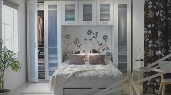 40 petites chambres pratiques pour simuler un int rieur plus grand. Black Bedroom Furniture Sets. Home Design Ideas