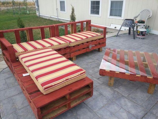 Mobilier De Jardin Palette. Amazing Fabriquer Une Table De Jardin ...