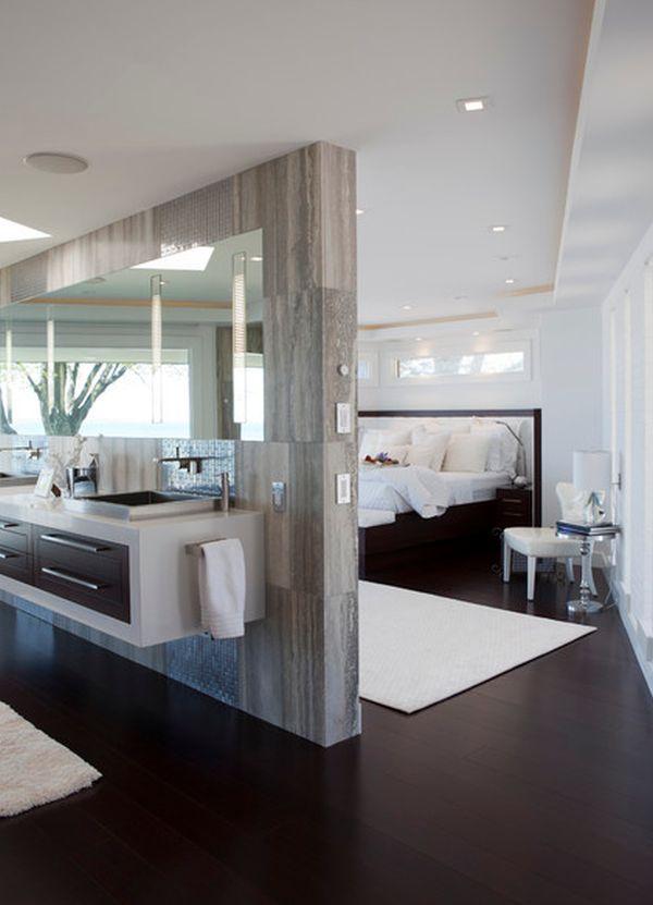 10 id es pour s parer la chambre coucher des autres pi ces for Separation entre chambre et salle de bain