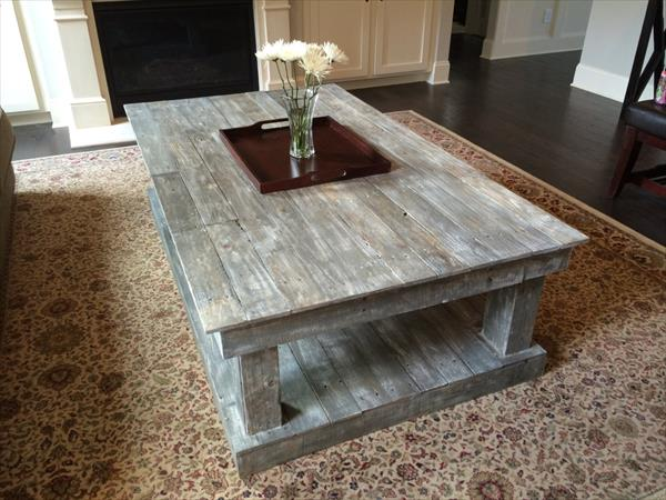 Table basse en palette 50 id es originales - Comment faire une table en palette ...