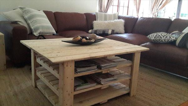belle ralisation sur trois tages duune table basse en bois with une table en bois - Table De Salon En Bois De Palette
