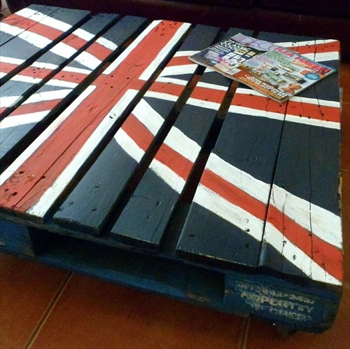 Table basse original drapeau angleterre