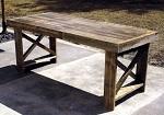 Table fabriquée avec des palettes