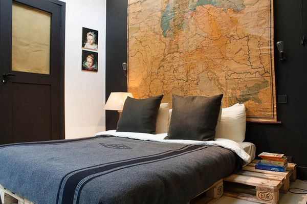 Ambiance cosy dans un chambre avec lit en bois