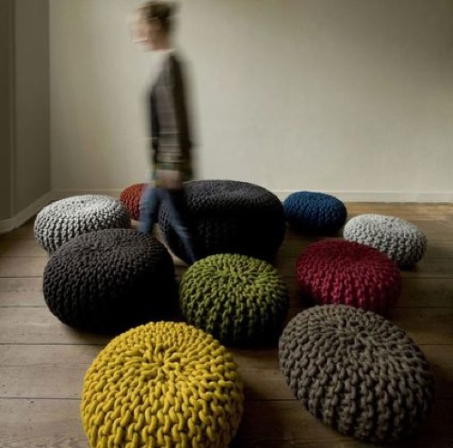 Les Flocks Poufs par Christien Meindertsma