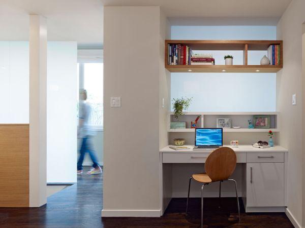 Am nager un petit espace avec un bureau 20 id es originales for Coin bureau petit espace