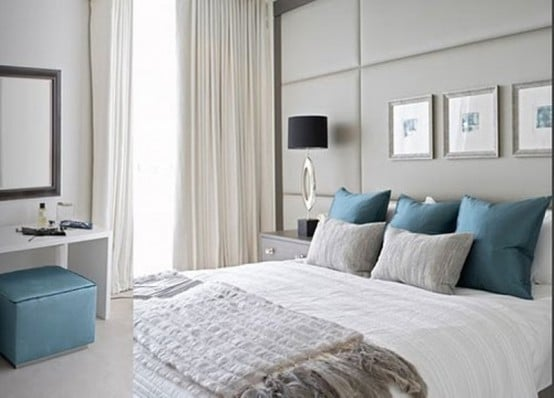 15 magnifiques chambres d cor es en bleu et gris moderne. Black Bedroom Furniture Sets. Home Design Ideas