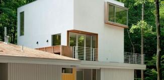 Maison design dasn la forêt