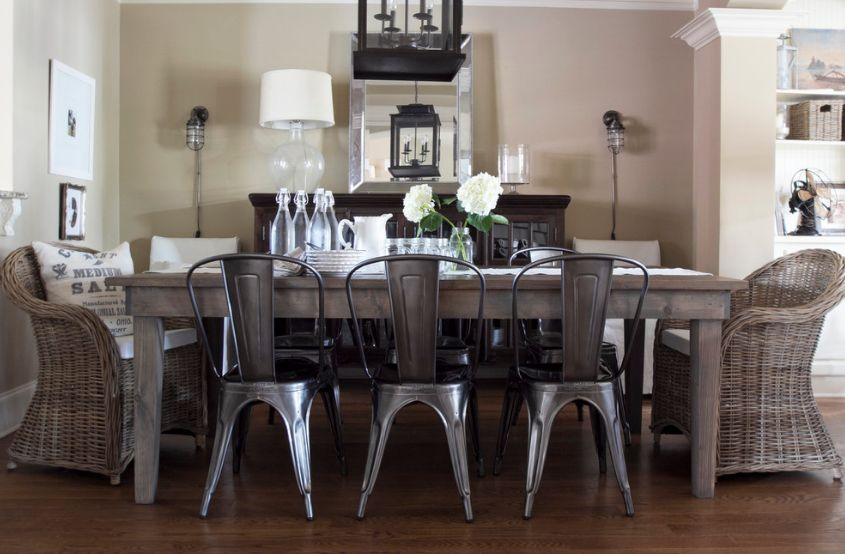 id es de d coration industrielle avec la chaise tolix ind modable. Black Bedroom Furniture Sets. Home Design Ideas