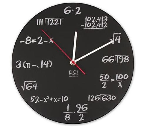 L'horloge Pop Quiz Math par ThinkGeek