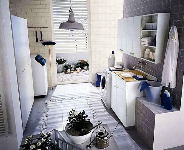 Idée de buanderie décoration blanche