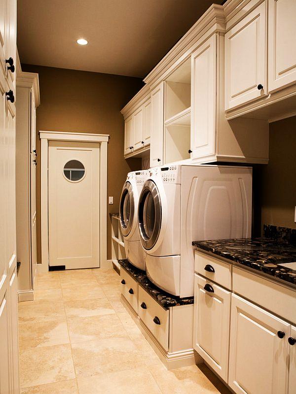 am nagement de buanderie 30 exemples de buanderies fonctionnelles moderne house 1001 photos. Black Bedroom Furniture Sets. Home Design Ideas