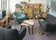 Salon vintage Poppy de chez Alinéa