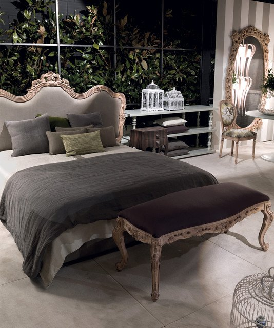 chambre baroque moderne tons gris
