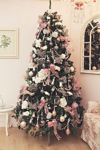 deco sapin rose gold
