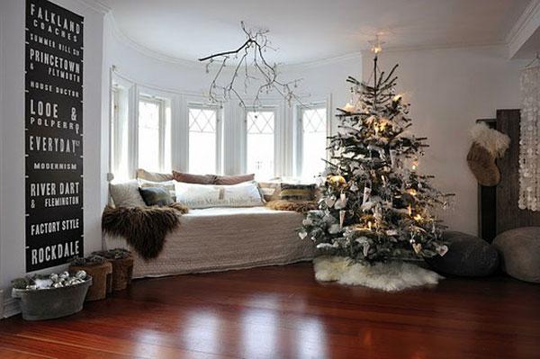 30 id es d 39 ambiance de no l pour sublimer vos pi ces de vie - Decorazioni natalizie moderne ...
