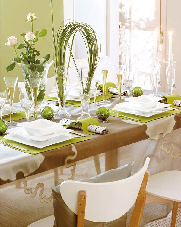 Table de repas de no l 15 id es d co charmantes for Decoration de table idees