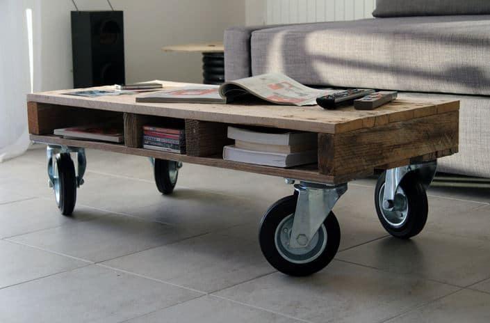 Notre s lection meubles et accessoires tendance chez dawanda - Table basse industrielle roulette ...