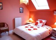 chambre romantique rouge