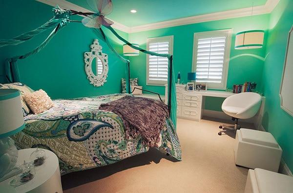 Chambre turquoise: 35 modèles sobres et élégants