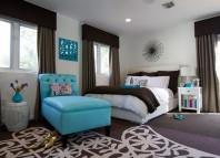chambre decoration bleu turquoise