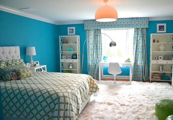 Dco Chambre Turquoise