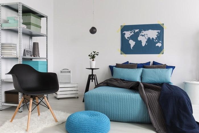Chambre Marron Et Bleu Turquoise. Trendy G Nial Salle De Bain Bleu ...