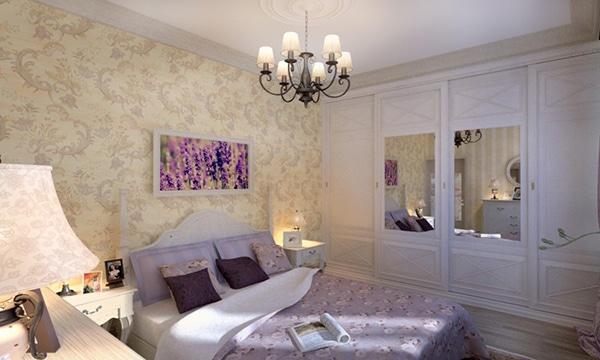idée chambre country violette
