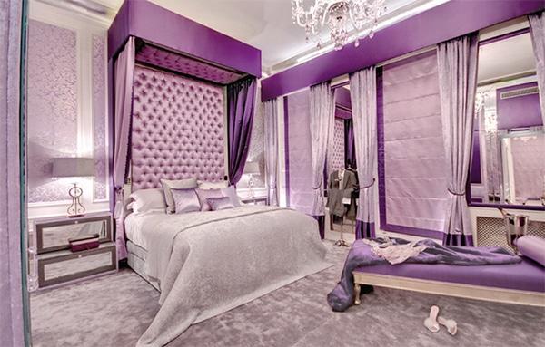 Chambre violette 20 id es d coration pour un chambre for Chambre tres moderne